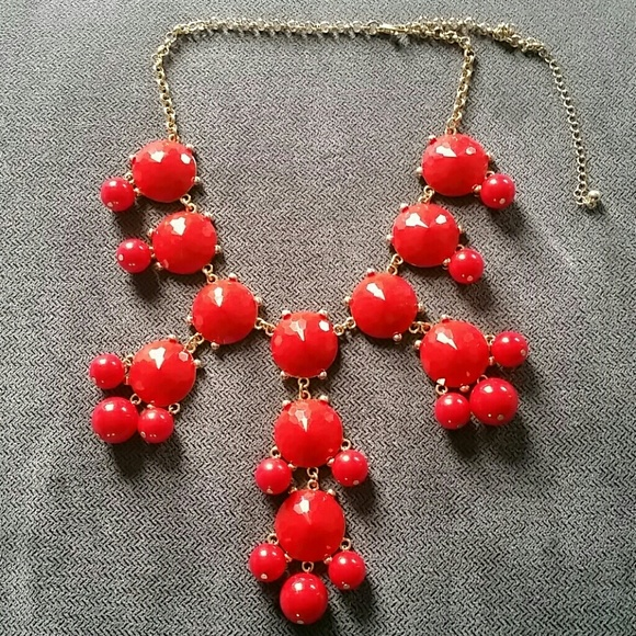 Accessories - Red drop necklace