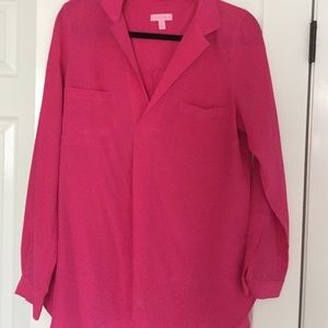 Lily Pulitzer 100% silk blouse