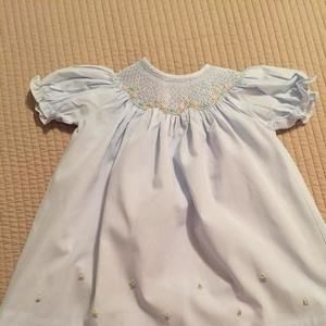 Other - Carriage Boutiques- Beautiful baby blue smocked dress