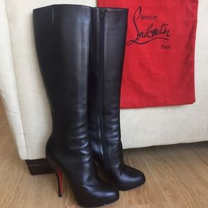 Christian Louboutin platform boots.