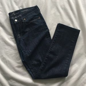7 For All Mankind Denim - Dark indigo blue skinny jeans 7For All Mankind