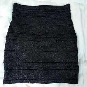 FINAL SALE 2b bebe metallic bodycon mini skirt