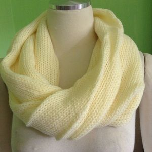 Buttercup Infinity Knitted Scarf
