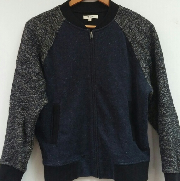 4cf89cec2 Madewell sweatshirt bomber jacket, M