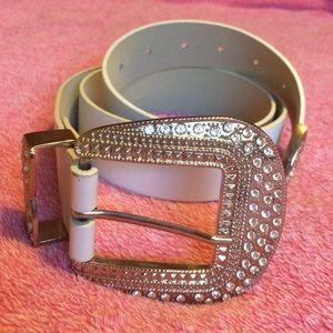 Bebe bebe genuine leather obi belt in red m l from susan s closet