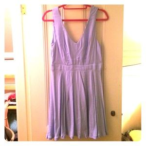 Soft blue flow dress