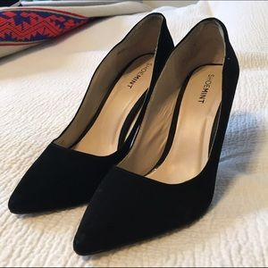 Shoemint Suede Pointed-toe Pumps