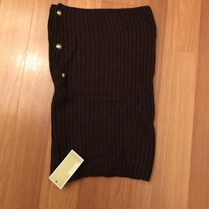 Never worn!  Brown, Michael Kors neck warmer
