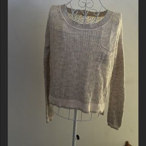 Free People lace back sweater