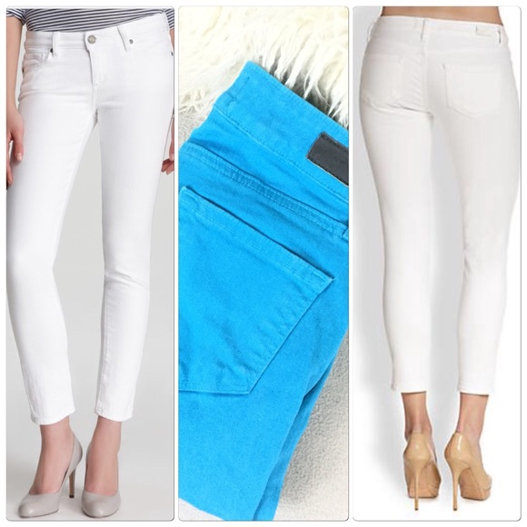 Paige Turquoise Skinny Ankle Peg jeans