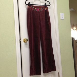Oilily Pants - Oilily Brown velvet pants
