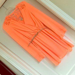 Gianni Bini Dresses - Beautiful neon belted dress!