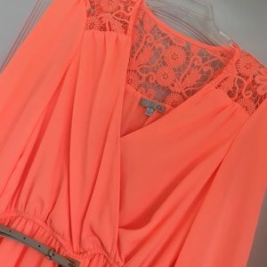 Beautiful neon belted dress!