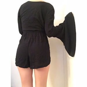 Abercrombie & Fitch Dresses - SOLD! Black Long Sleeve Romper