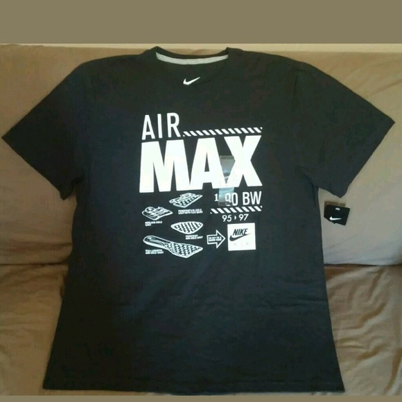 01bd48a3 Nike Shirts | Mens Air Max Graphic Tshirt Xl Black | Poshmark