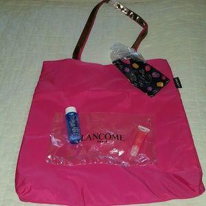 New lancome duffle bag with makeup