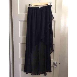 58 Off Dresses Amp Skirts Black Asymmetrical Draped High