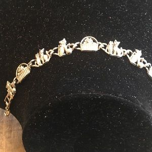 Jewelry - Sterling Cat link bracelet