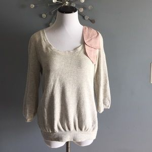 Anthropologie Saturday Sunday bow sweater