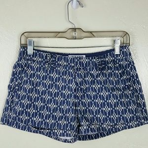 🌺 Blue & White Print Shorts by Old Navy Size 0
