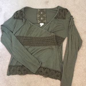 Anthropologie Tops - Anthropologie TINY long sleeve wrap top