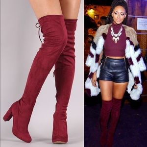 Leoninus Shoes - 🏆HOST PICK🏆🍷Wine🍷Over-the-Knee Boots