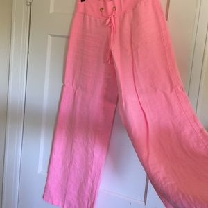 Lilly Pulitzer Linen Pants.