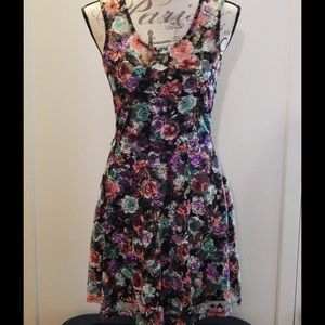 Wet Seal Flirty Floral Lace Dress Sizes S and M