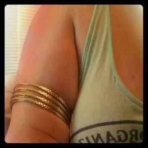 Set of 2 H&M metal gold color arm / bicep bands