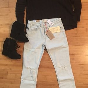 Current/Elliott The Stiletto Cropped Jeans