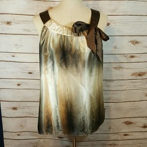 Tops - Flowy ombre ikat dyed blouse