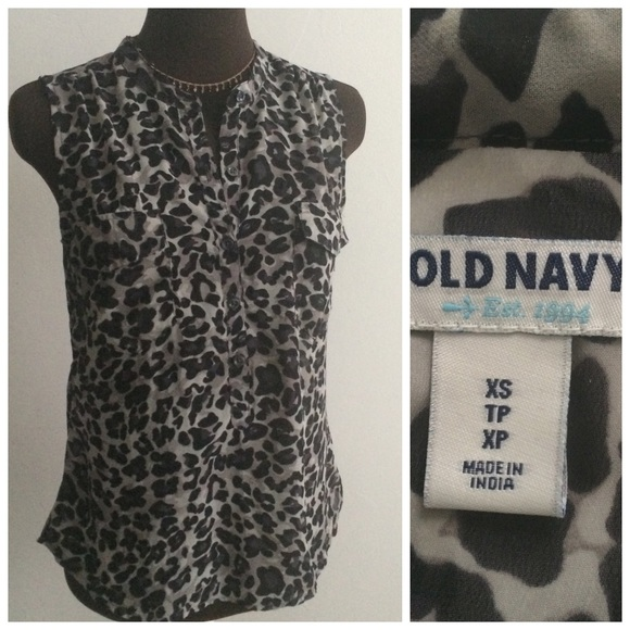 Old Navy Leopard Blouse 17