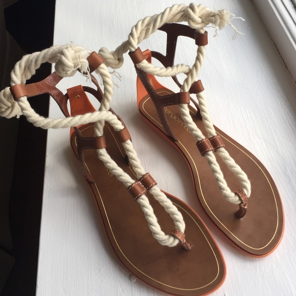 149685cc58440 Rope Sandals by Sergio Rossi NWT