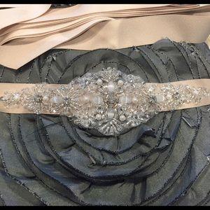 Jeweled Bridal Sash/Belt 