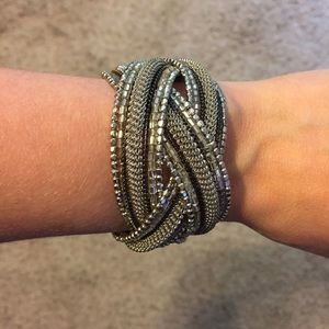 Jewelry - Silver Braided Cuff Bracelet