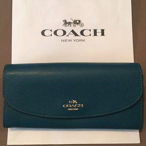 Coach Leather Slim Envelope Wallet