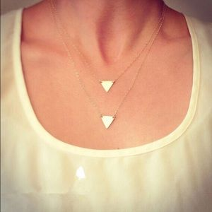 Jewelry - 🔥Two layer triangle necklace