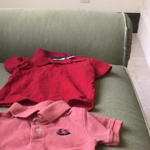 Other - Basic Coral & Red Polo preppy