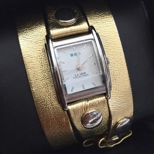 La Mer Collections Gold Wrap Watch