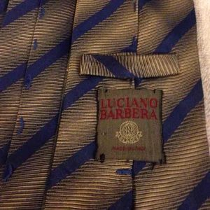 Luciano Barbera Other - Luciano Barbera Gold & Blue Stripe Tie