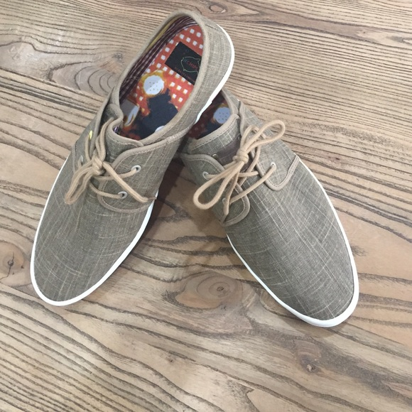 53 off fish n chips other mens linen tennis shoes from for Fish tennis shoes