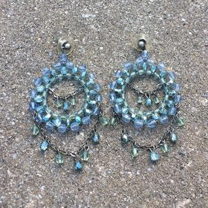 Gorgeous Turquoise Blue Chandelier Post Earrings