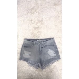 LF Pants - Blue Jean High Waisted Shorts