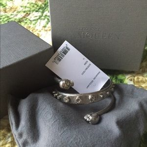 Alexander McQueen Jewelry - Extremely Rare Alexander McQueen Double Skull Cuff