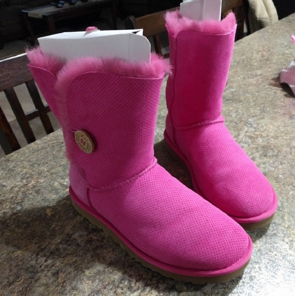 Hot pink bailey button Uggs.
