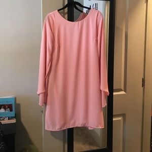 Baby pink long sleeved dress