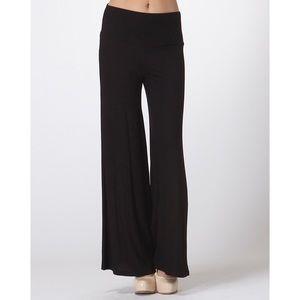 Pants - Black Palazzo Bell Bottom Pants