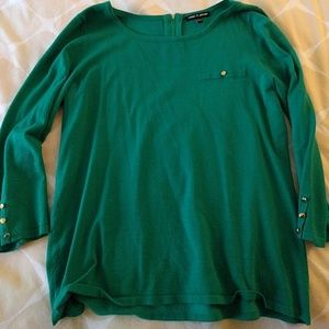 Cable & Gauge Tops - Cable and Gauge green knit top, M