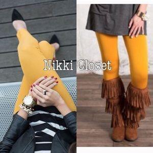 Boutique Pants - Mustard high waist leggings fleece lined slimming
