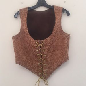 Tops - Steam Punk Inspired Corset Vest • Size Large/XL